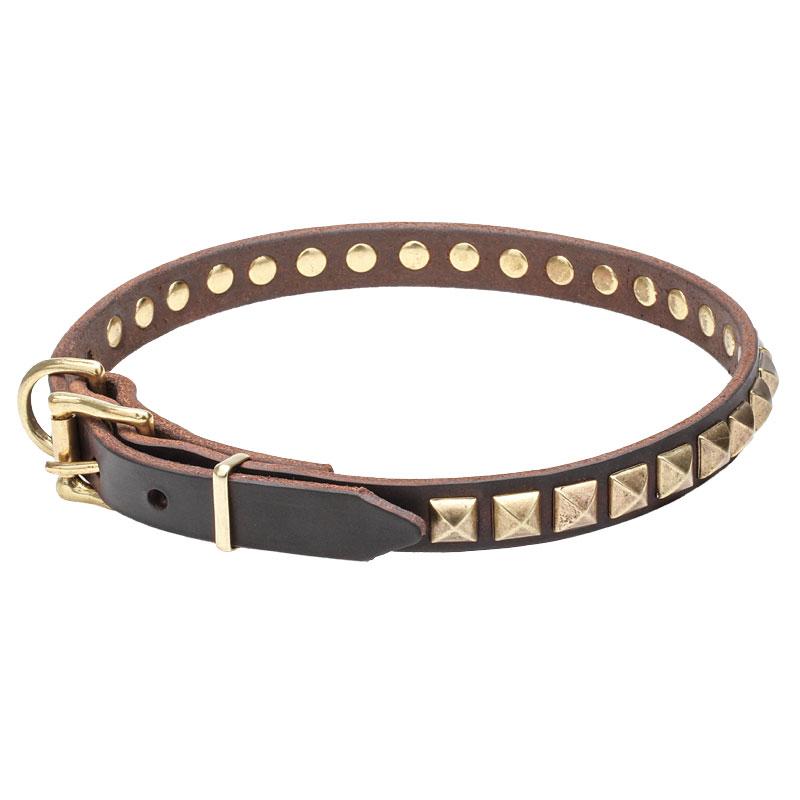 Collier original en cuir pour chien comme un bijou c66 - Collier pour chien original ...